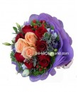 Champagne & Red Rose Bouquet