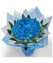 Big Blue - 99 Stalks Blue Rose Bouquet
