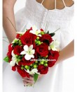 Bridal Bouquet - Bright Red Rose by 24Hrs City Florist Singapore