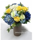 Artificial Flowers Coffee Vase Centre Piece