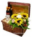 Picnic Basket - Wine Chocolate Gift Basket