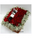 Wine In Bed Of Roses