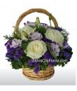 Eustoma Rose Basket