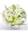 White Rose Bouquet With Orchid