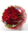 Red Rose Posy by 24Hrs City Florist