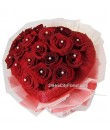 Heart Shape Red Rose Bouquet Valentine