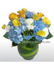 Calla Lily And Hydrangea Arrangement