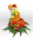 Floating Cup Gerbera Table Arrangement