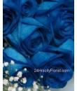 blue rose hand bouquet