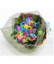 Rainbow Rose Sheaf Bouuqet