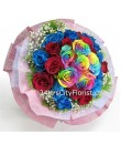 Multi Colour Rose Hand Bouquet