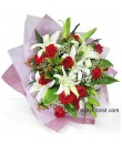Lily Hand Bouquet Valentine's Day