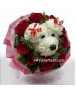 Puppy Love Valentine Bouquet