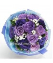 dark purple rose bouquet