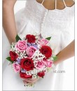 Red Pink Rose Bridal Bouquet