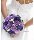 Royal Purple Rose Bridal Bouquet