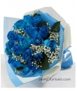 Blue Rose Valentine Hand Bouquet