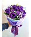 purple eustoma bouquet