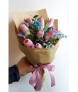 Tulip Kraft Paper Bouquet Valentine