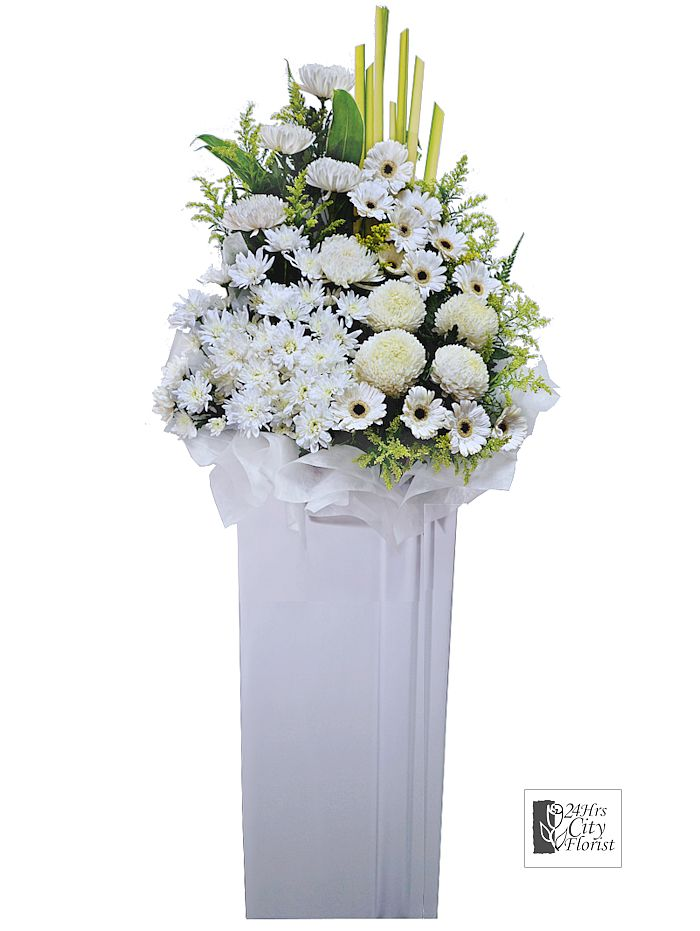 Wreath Delivery Singapore - Condolence flower stand