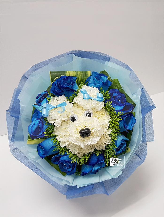 Dog Flower Bouquet