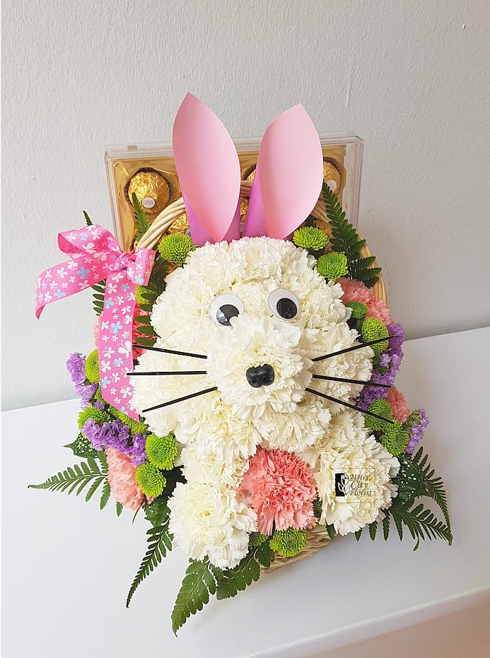 Easter Bunny And Chocolate Basket
