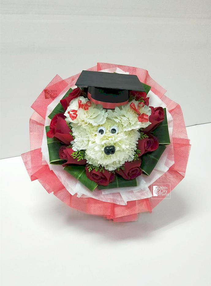 Graduating Puppy Bouquet