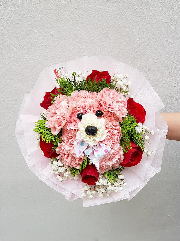 Pink Bear Bouquet