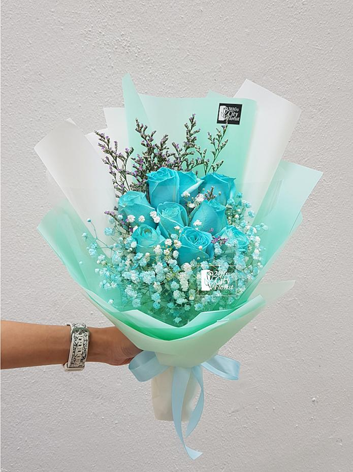 Tiffany Blue Rose 9