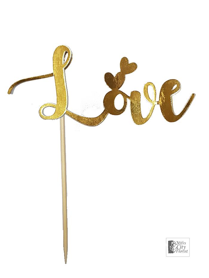 Flower Topper - Love Gold
