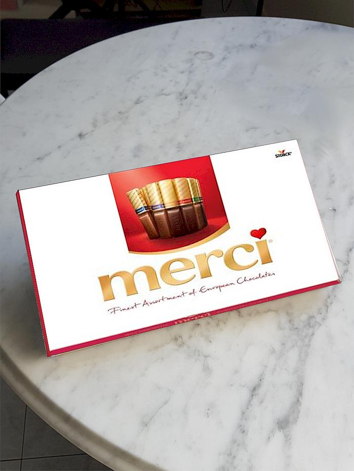 Merci ~ Finest Selection. Assorted European Chocolates.