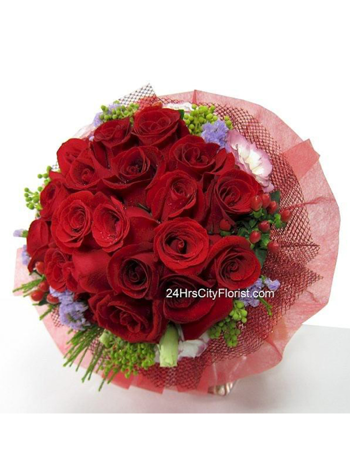 Red Rose Posy by 24Hrs City Florist Valentine