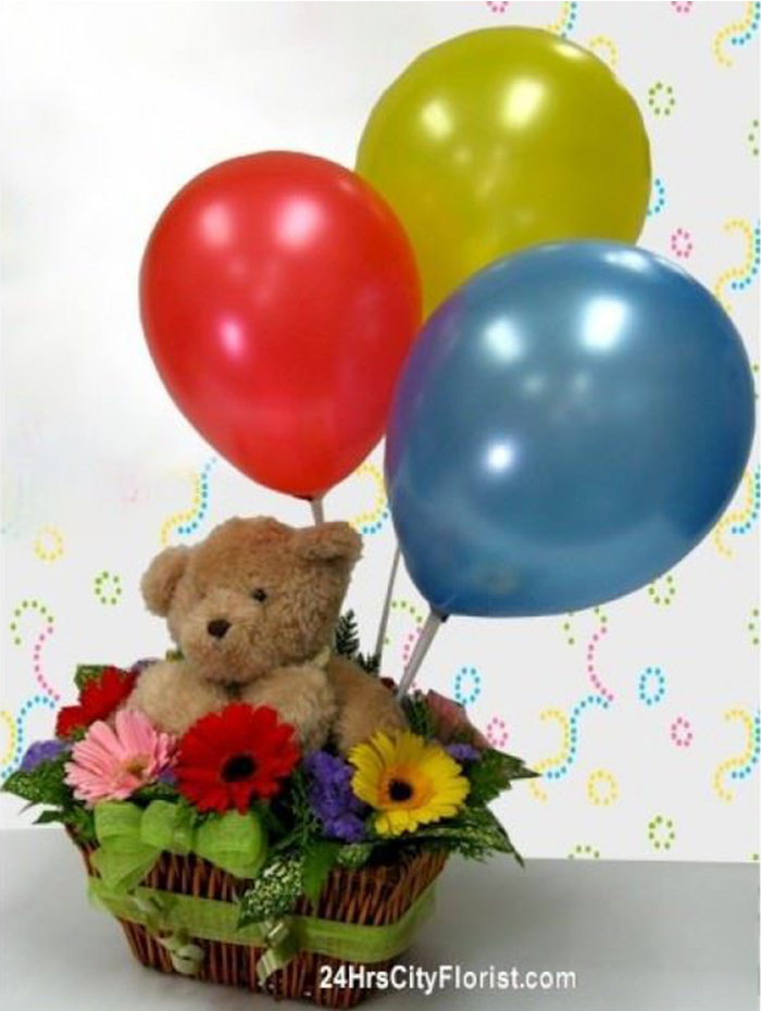 Bears-Balloons Celebration
