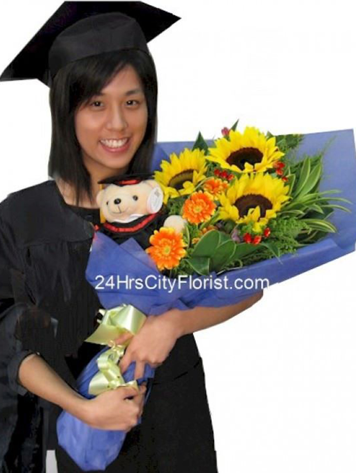 Graduation Flowers by 24Hrs City Florist Singapore