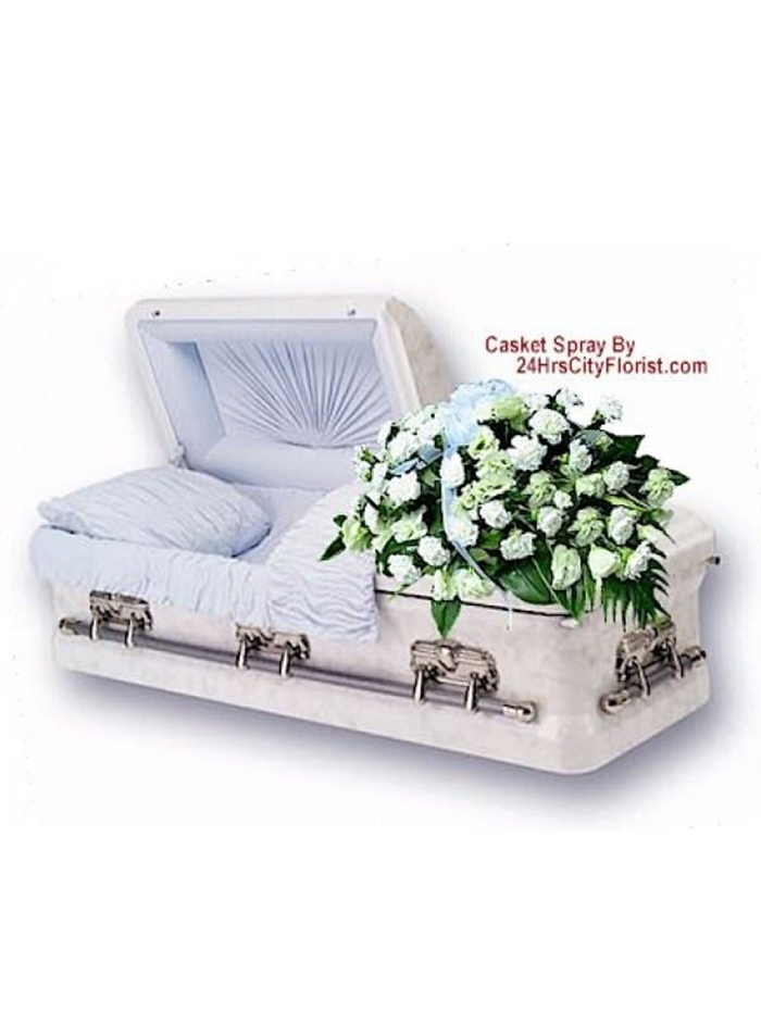 white casket top
