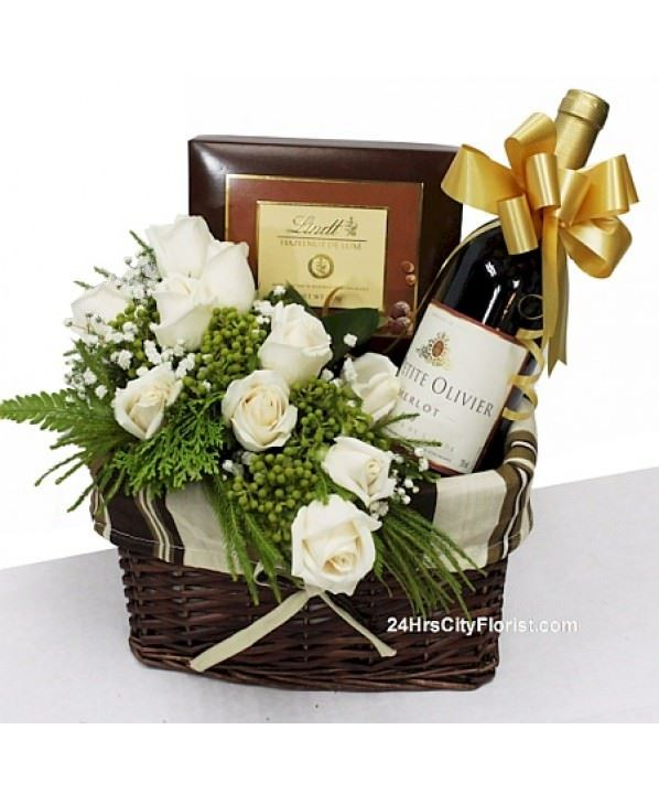 gift and wine basket