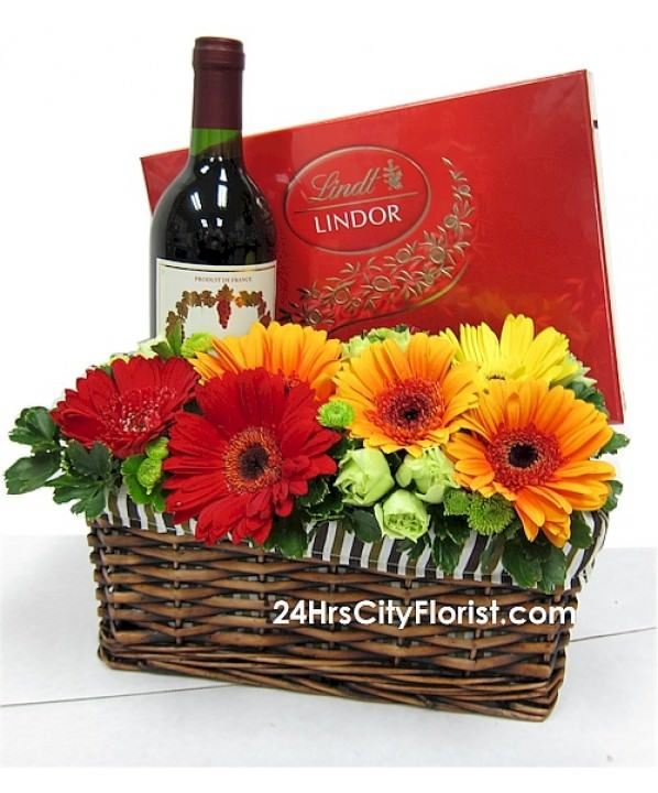 Temptations - Chocolate & Wine Basket