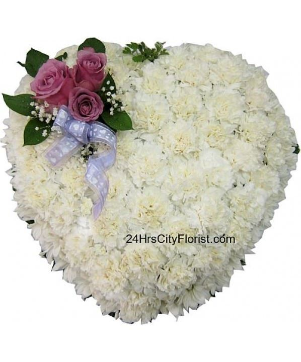 Heart Shaped Casket Top