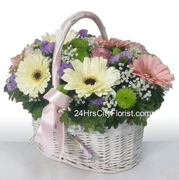 Country Gerbera Basket