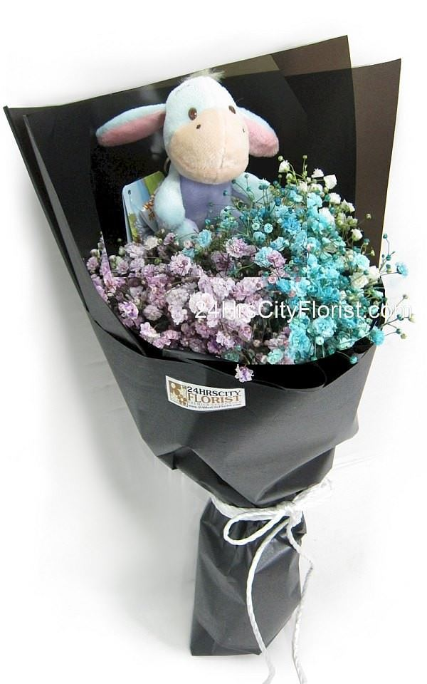 Eeyore in Baby's Breath