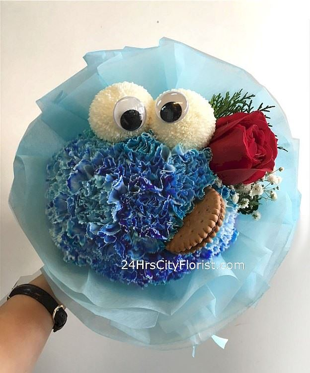 Cookie Monster Rose Bouquet